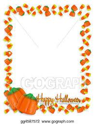 halloween candy border clipart. Brilliant Halloween Halloween Candy Corn Frame 3D Inside Border Clipart