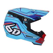 6d Helmet Atr 2 Circuit Neon Blue