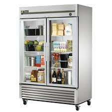 Glass Refrigerator True T 49g Ld 54 Two Section Reach In Refrigerator 2 Glass