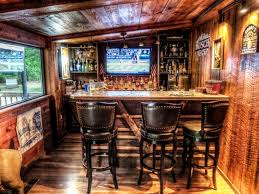 Quality Man Cave Bar Ideas Go All Wild West With A Woody Rusty