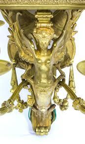 chandeliers antique pair of french art nouveau ormolu wall lights pedestals c1910 photo 4 art