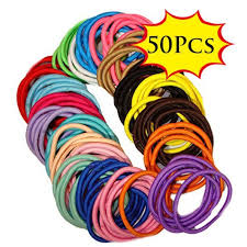 <b>50Pcs Elastic Rope</b> Women Hair Ties Ponytail Holder Hairbands ...