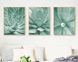 >green wall art etsy succulents print set of 3 prints mint green decor cactus print cactus wall art cacti prints cactus poster plants prints light green wall art