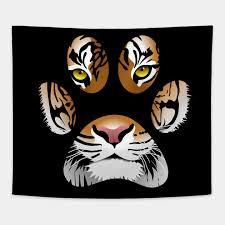 Tiger Eyes Animal Print Leopard Paw Cheetah Lion Cat