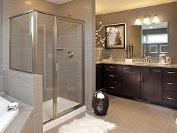 Contemporary Master Bathroom With High Ceiling  Flat Panel - Contemporary master bathrooms