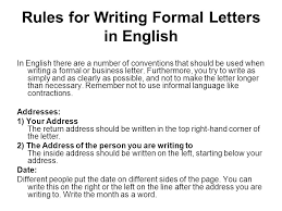 Formal Letter English Writing A Formal Letter Ppt Video Online Download