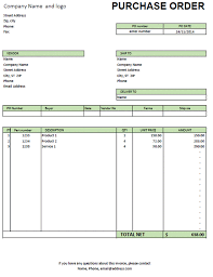 Purchase Order Invoice Template Excel Purchase Order Template Excel Purchase Order Order Form