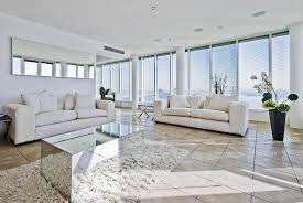 big living rooms. Large Apartment Modern Living Room With White Furniture And Floor-to-ceiling Windows Big Rooms