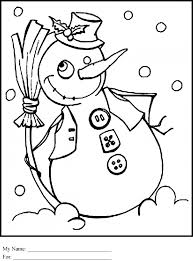 Small Picture Coloring Pages Cute Cartoon Snowman Coloring Page Free Printable