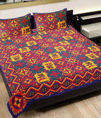 grj rajasthani sanganeri print double bed sheet  grj rajasthani sanganeri print double bed sheet 2 pillow covers