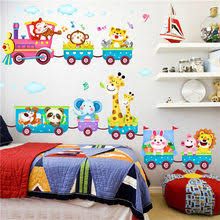 <b>animal train</b> wall sticker