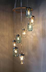 mason jar lighting fixture. Diy Swag Lamp Ideas River Rain Mason Jar Chandelier Hanging Pendant  Light Fixture Cascading Blue And Clear Glass Lights Design Maybe Not With Mason Jar Lighting Fixture