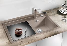 <b>Кухонная мойка Blanco Zenar</b> 45 S с доской из стекла чаша слева ...