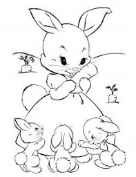 Bunnies and easter go together like peanut butter and chocolate! Rabbit Free Printable Coloring Pages For Kids