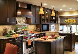 Dark Wood Kitchen Traditional Style Corner Wood Kitchen Cabinets With Granite