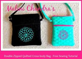 Malini Chandra's Quilted Cross-body Bag   PatternPile.com - sew ... & Malini Chandra's Double Zipped Quilted CrossBody Bag Adamdwight.com