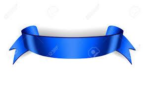 Blue Ribbon Design Blue Ribbon Banner Satin Blank Design Label Scroll Ribbon Bow