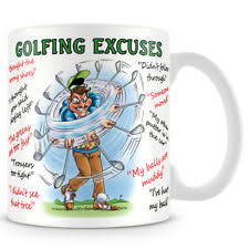 golf excuses funny ceramic coffee mug makes an ideal gift