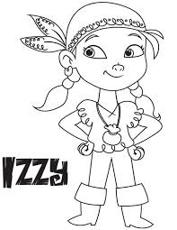 izzy the vice captain of never land pirates coloring page 23986