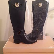 michael kors stockard leather boots