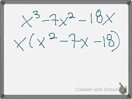 writing a polynomial in factored form