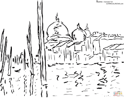 Small Picture Venice by Claude Monet coloring page Free Printable Coloring Pages