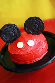 easy mickey mouse cake ideas