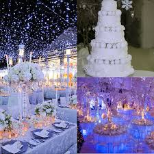 Winter Wedding Decor Romantic Winter Themed Wedding Dccor Ideas Weddceremonycom