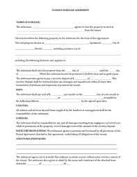 simple rental agreement florida florida rental lease agreement form residential rental
