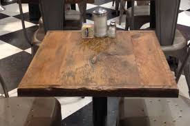 reclaimed wood square dining table new restaurant table toppub table top small reclaimed wood bar