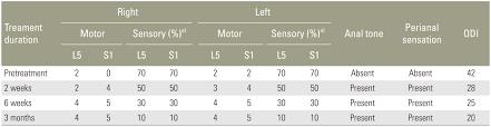 Sensation Chart Asian Spine Journal