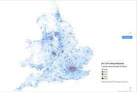 england racial dot map x  mapporn