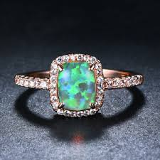 image is loading exquisite green fire opal zircon princess wedding ring