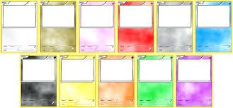 blank pokemon card template