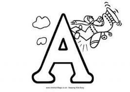 letter a colouring pages av2