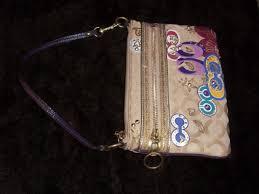 ... norway coach poppy signature large applique wallet wristlet 44069 rare  97987 9f3be