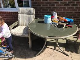 leisure grow garden table chairs and parasol