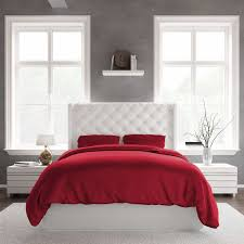 bamboo duvet covers king size and queen size red