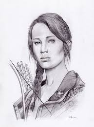 katniss everdeen sketch i did not draw this excellent drawing though