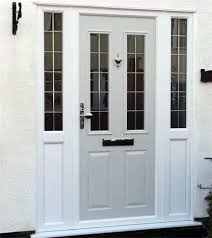 composite door custom ral grey colour with side pertaining to front doors glass panels idea 24