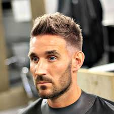 cool guy haircuts low fade and long top with beard