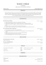 Technician Resume Templates 2019 Free Download Resume Io