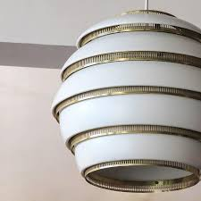 finnish early alvar aalto a331 beehive pendant for