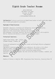 resume seventh grade teacher sample resume for esl teacher in resume samples eighth grade teacher resume sample