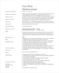 Operation Manager Cv Format Magdalene Project Org