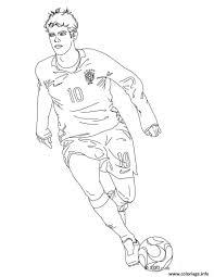 Coloriage Du Joueur De Foot Neymar C3 A0 Imprimer Gratuitement Oul L