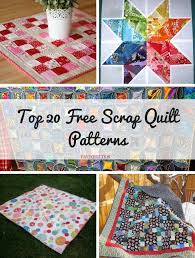 Top 20 Free Scrap Quilt Patterns | FaveQuilts.com &  Adamdwight.com