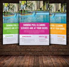 Swimming Pool Cleaning service flyer Flyer Templates Creative Market
