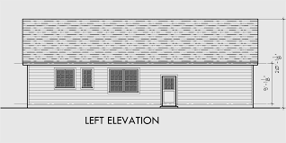 house side elevation view for 10162 single level house plans one story house plans