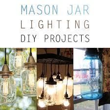 cottage mason jar chandelier. Mason Jar Lighting DIY Jars Cottage Chandelier